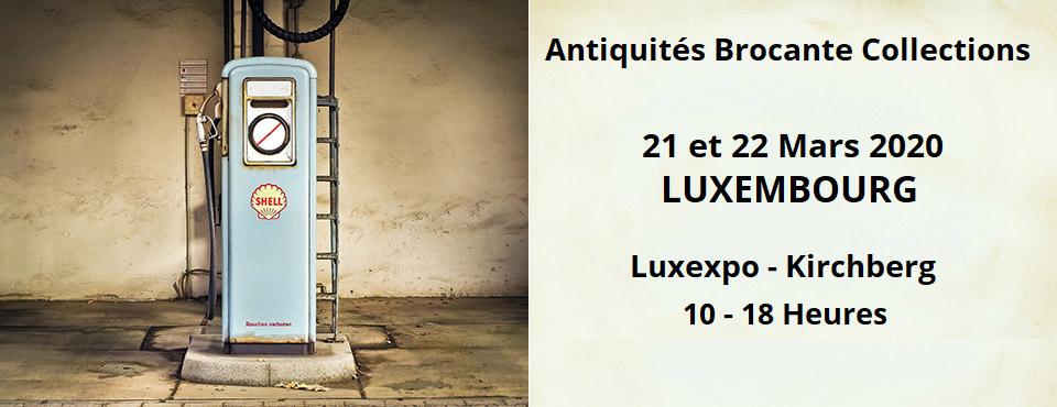 foire antiquités brocante Luxembourg luxexpo kirchberg mars 2020