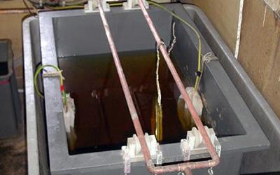 bain à électrolyse - réargenter - réargenture