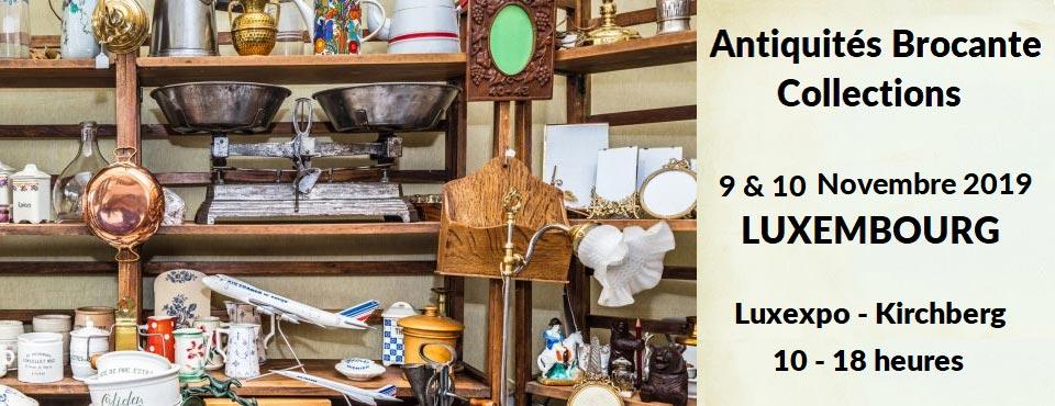 Grande foire Antiquités Brocante Luxembourg Luxexpo novembre 2019