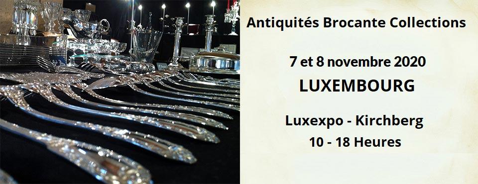 foire antiquité brocante Luxembourg novembre 2020