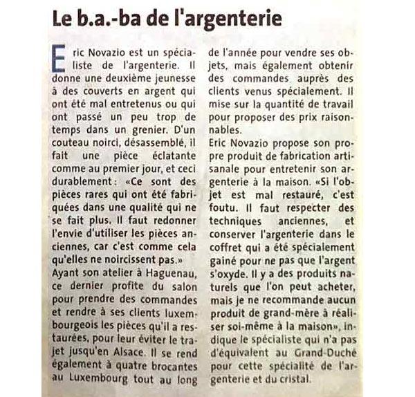 Le Savoir de Marie article le Quotidien Luxembourg