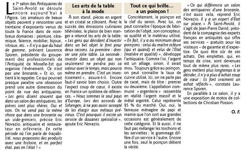 article de presse Le Savoir de Marie