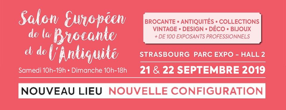 Salon Européen Antiquités Brocante Strasbourg septembre 2019