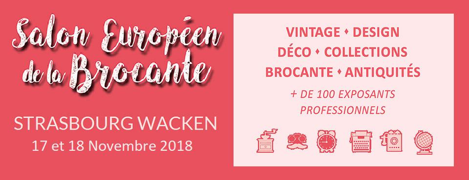 salon de la brocante à Strasbourg novembre 2018: Antiquités, Art déco, Vintage et Design
